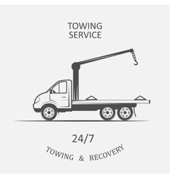 truck for towing and recovery vector image