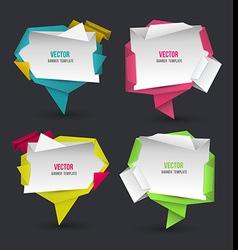 Abstract modern origami speech bubble set vector image vector image
