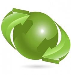ball and green arrows vector image