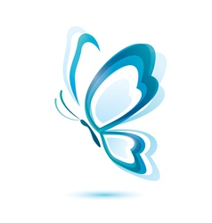 blue butterfly beauty concept isolated symbol vector image