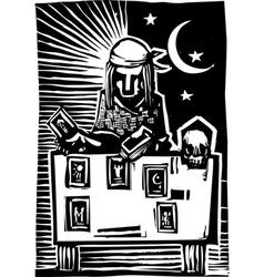 Gypsy Tarot Card Reading A vector image
