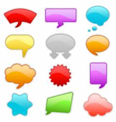 message bubbles vector image vector image