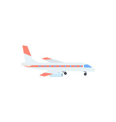 Passenger airplane isolated icon vector