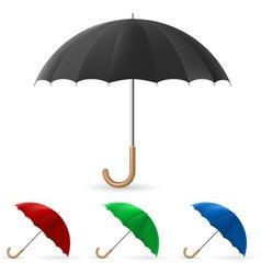 realistic umbrella vector image vector image