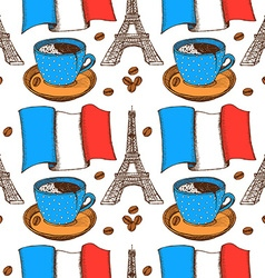 Sketch French pattern in vintage style vector image vector image