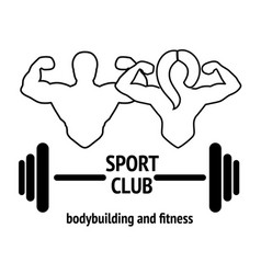 sport or fitness club emblem vector image vector image