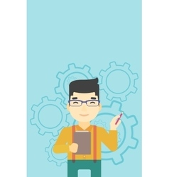 Businessman with pencil vector image vector image