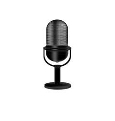 Microphone retro vector image vector image