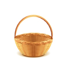 Wicker basket isolated vector