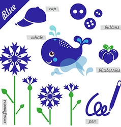 Blue vector image