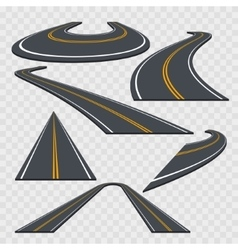 Different Perspective Curved Road Set vector image vector image