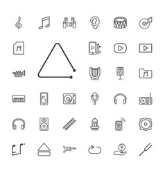 33 music icons vector