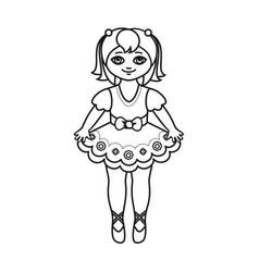 A little ballerina in a beautiful dress vector