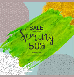 Abstract design spring sale banner template vector