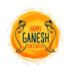 Abstract ganesh chaturthi festival greeting vector