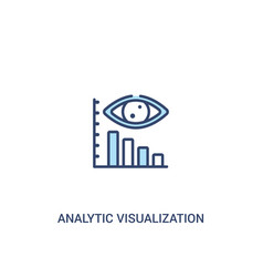 analytic visualization concept 2 colored icon vector image