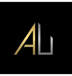 Au letters logo vector