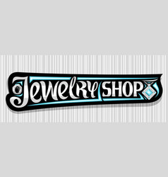 Banner for jewelry shop vector
