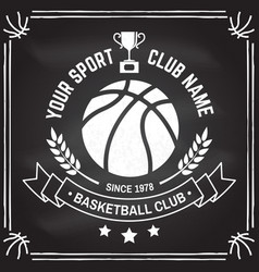 Basketball sport club badge vector