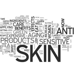 Beauty from the inside for sensitive skin text vector