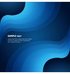 business abstract background with blue waves vector image