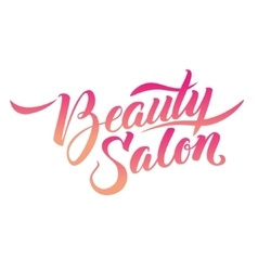 Calligraphy Logo Beauty Salon vector