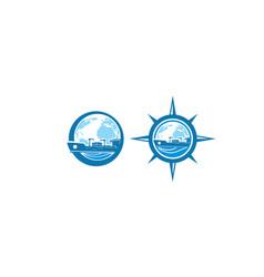 cargo global logo icon vector image