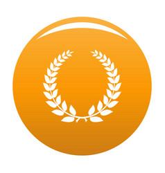 Champion wreath icon orange vector