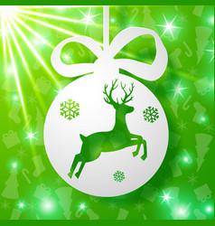 Christmas deer background vector