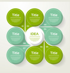 Circle infographic template for cycle diagram vector