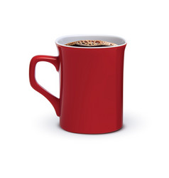 Coffee cup isolated realistic 3d vector
