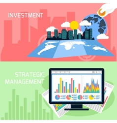 Concept of strategic management and investment vector