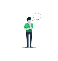 Considering man making decision vector