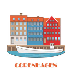 copenhagen denmark old european city vector image
