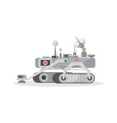 Crawler mars rover isolated icon vector