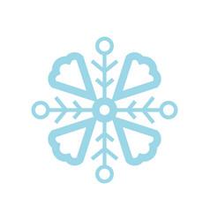 Custom snowflake shape vector