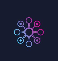 Decentralization concept icon logo vector