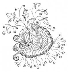 doodle element vector image