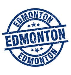 Edmonton blue round grunge stamp vector