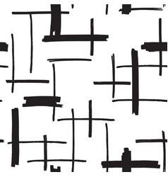 felt pen strokes seamless pattern vector image