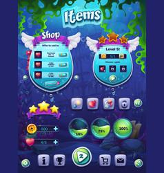 fish world set items vector image