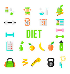 Fitness and sport icons for web and mobile vector