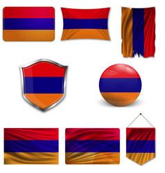 flag armenia armenia white symbo vector image