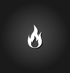 flame gas fire icon flat vector image