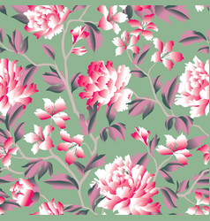 Floral seamless pattern flower rose chinese vector