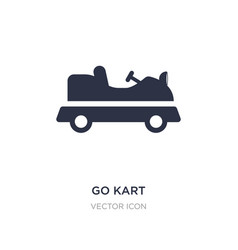 Go kart icon on white background simple element vector