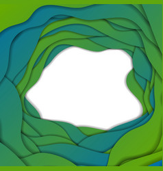 Green and blue abstract corporate wavy background vector