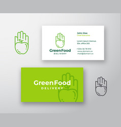 green food delivery abstract sign or logo vector image