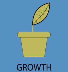Growth icon flat design vector
