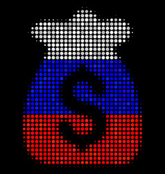 Halftone russian financial capital icon vector